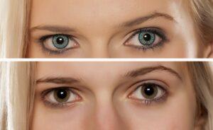 lentille contact couleur